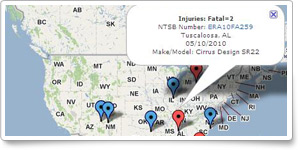 Interactive map shows stall/spin accidents