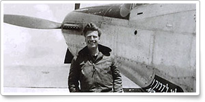 World War II combat pilot Mitchell Flint