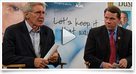 Harrison Ford rallies support for ATC towers