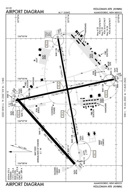 KHMN (Holloman Air Force Base) airport diagram