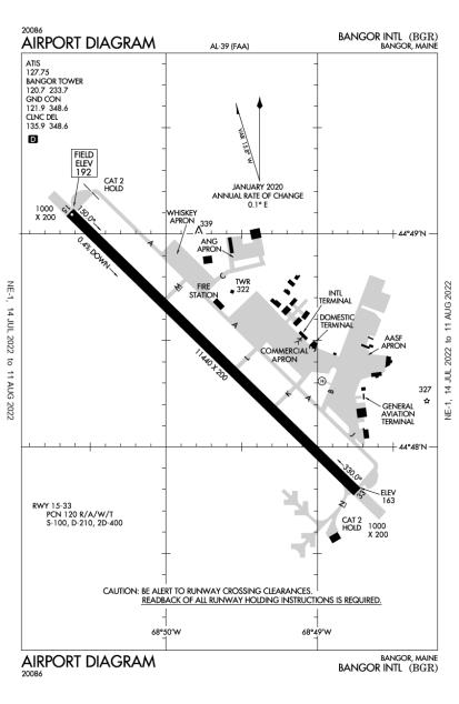 KBGR (Bangor International) airport diagram