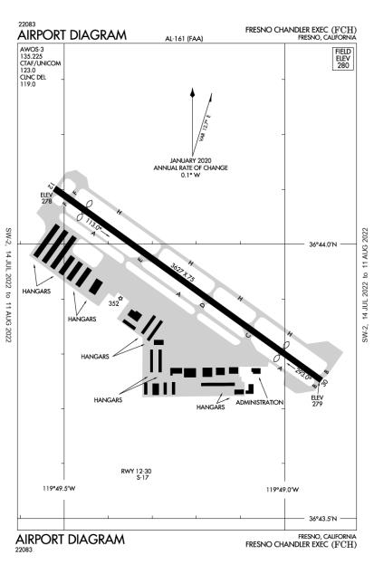 KFCH (Fresno Chandler Executive) airport diagram