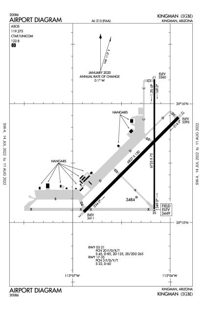 KIGM (Kingman) airport diagram