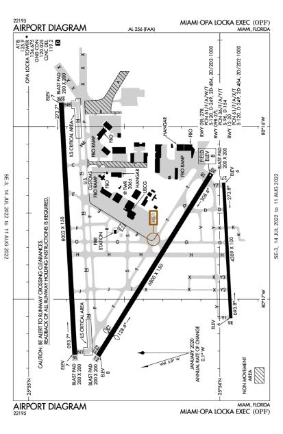 KOPF (Miami-Opa Locka Executive) airport diagram
