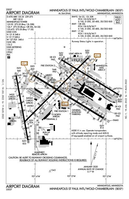 KMSP (Minneapolis-St Paul International/Wold-Chamberlain) airport diagram