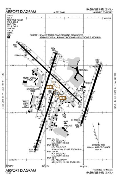 KBNA (Nashville International) airport diagram