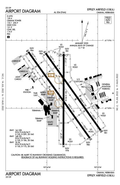 KOMA (Eppley Airfield) airport diagram