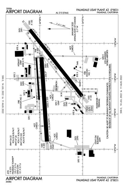 KPMD (Palmdale USAF Plant 42) airport diagram