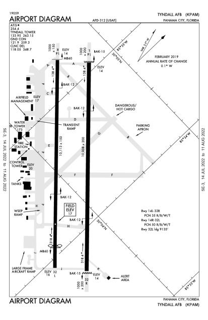 PAM (Tyndall Air Force Base) airport diagram