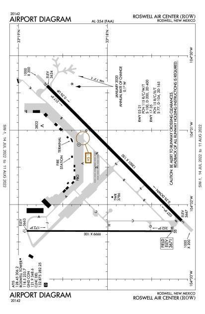 ROW (Roswell International Air Center) airport diagram