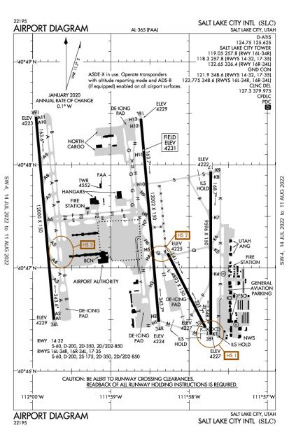 KSLC (Salt Lake City International) airport diagram