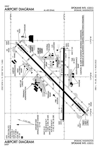 GEG (Spokane International) airport diagram