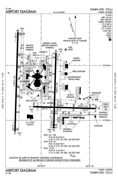 KTPA (Tampa International) airport diagram