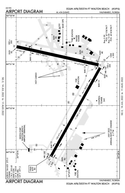 KVPS (Eglin Air Force Base) airport diagram