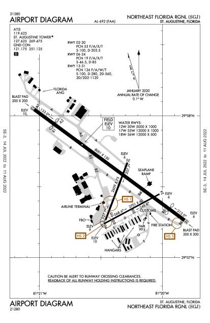 KSGJ (Northeast Florida Regional) airport diagram