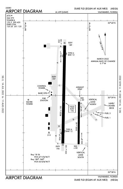 KEGI (Duke Field,(Eglin AF Aux NR 3)) airport diagram