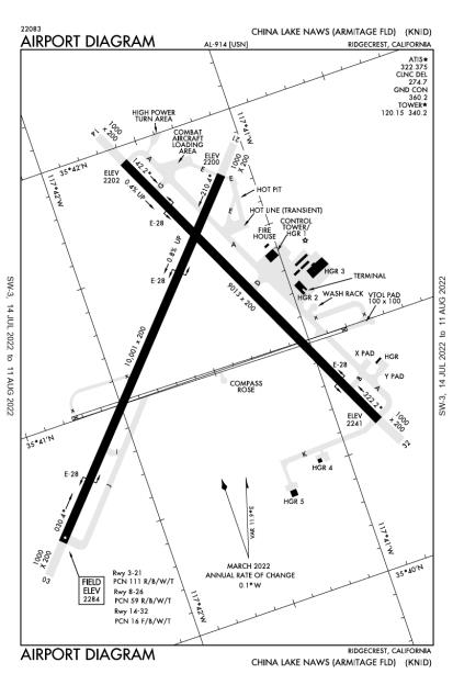 KNID (China Lake Naws (Armitage Field)) airport diagram