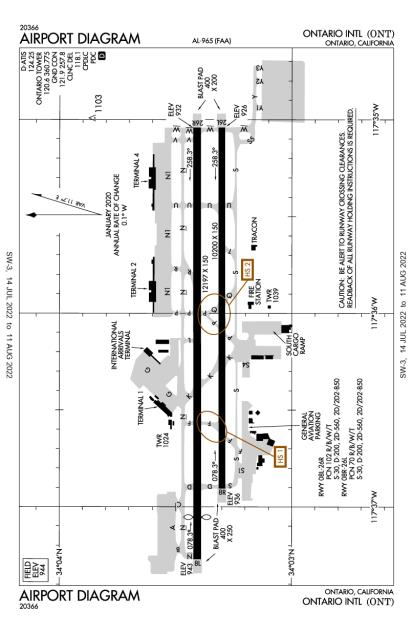 KONT (Ontario International) airport diagram