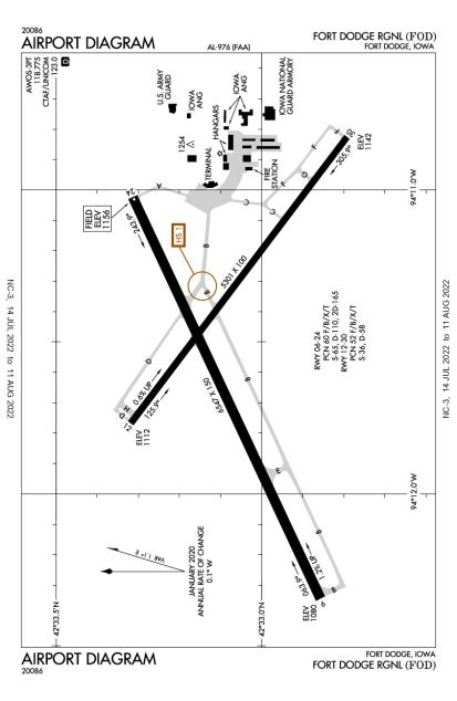 KFOD (Fort Dodge Regional) airport diagram
