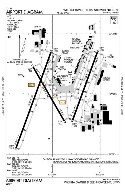 ICT (Wichita Mid-Continent) airport diagram