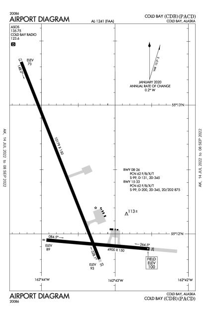 PACD (Cold Bay) airport diagram