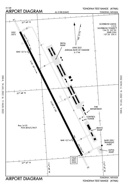 KTNX (Tonopah Test Range) airport diagram