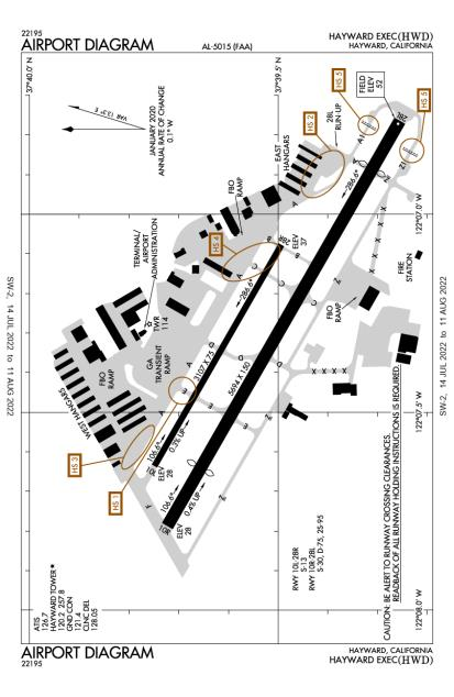 KHWD (Hayward Executive) airport diagram