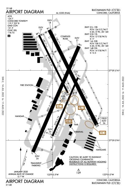 KCCR (Buchanan Field) airport diagram