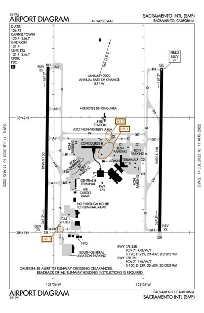 KSMF (Sacramento International) airport diagram
