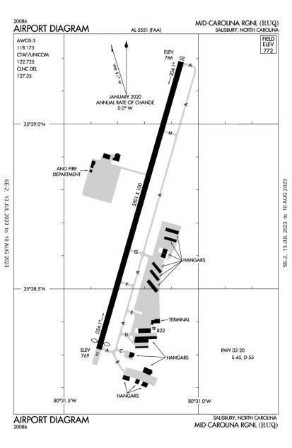 KRUQ (Rowan County) airport diagram