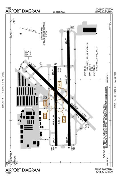 CNO (Chino) airport diagram