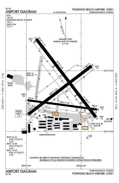 KPMP (Pompano Beach Airpark) airport diagram