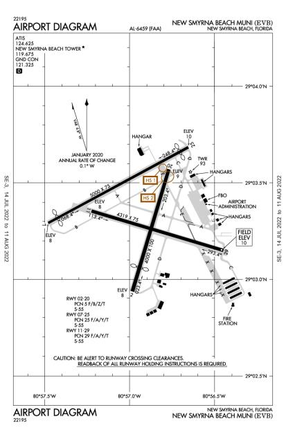 KEVB (New Smyrna Beach Municipal) airport diagram