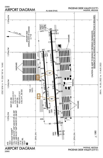 KDVT (Phoenix Deer Valley) airport diagram